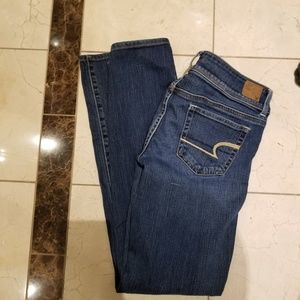 American Eagle jeans slim boot size 8 long stretch